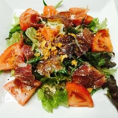 トマトと生ハムのサラダ