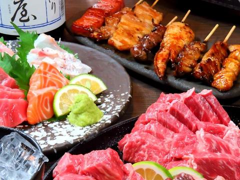 鮮魚&焼き鳥を個室でゆっくりと♪焼き鳥食べ飲み放題は3000円~個室は全150席!