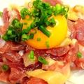 料理メニュー写真地鶏ユッケ(塩orたれ )