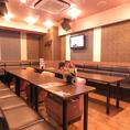最大収容人数が30名のお部屋です。規模は長野駅前エリアで最大!2次会・3次会や各種宴会にぜひご利用ください♪