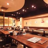 【40名テーブル】出張の際や、仕事帰りにサクッと、忘新年会など各種宴会にピッタリ!どこか落ち着く雰囲気の半個室空間もご用意しております。