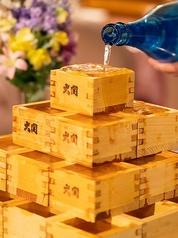 【升酒タワー】お祝い事には欠かせない升酒をタワーに!盛り上がること間違いなし!!★30個用【4段】¥12,000(日本酒1.8L×4本)/日本酒持込み・升のみ貸出は¥3,000 ★14個用【3段】¥6,000(日本酒1.8L×2本)/日本酒持込み・升のみ貸出は¥2,000