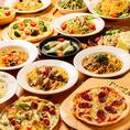 肉料理の他にも、アヒージョやピザなど豊富なバルメニューをご用意♪