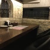半2階のスペシャルテーブルカウンター席