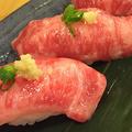 料理メニュー写真肉寿司(一貫)
