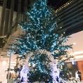 【シーズン限定☆】クリスマスシーズンには季節限定のツリーが出現!ネオンの明かりがロマンチックですよ!