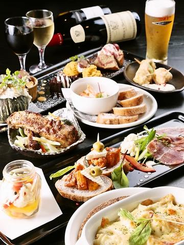 カフェ、レストラン、バーと様々なスタイルで楽しめるダイニングバー。
