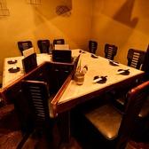 最大10名様のテーブル席は貸切宴会も◎