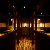 壁と扉に仕切られたソファー使用の完全個室。20名様まで収容可能です!※歓送迎会シーズンはお早めのご予約がおすすめです。