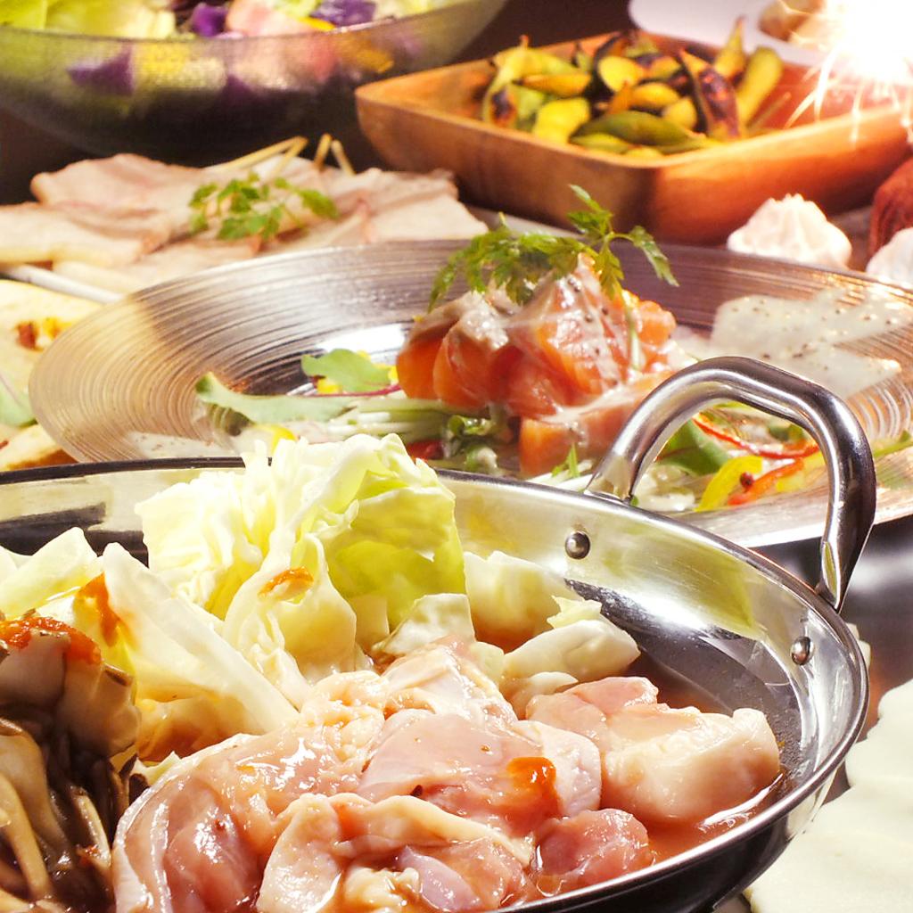 鍋宴会コース2980円!!プレミアムモルツや本格ワインなど約100種2時間飲み放題付き!