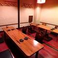 【コロナ対策】普段団体様もご利用できる個室ですが8名様からでも間隔を開けて広々とした空間でご案内できます