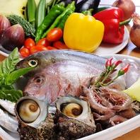 こだわりの野菜と魚介を仕入れ、ご提供!!
