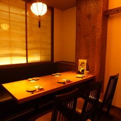 個室4名席×5  デートやちょっと贅沢な女子会なんかにGOOD★個室以外にも4名席は5席ご用意!!