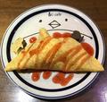 料理メニュー写真ペンギンアイスのクレープ包み