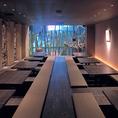 夜景の見える大宴会席は最大50名様までご利用可能。