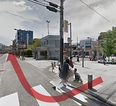 【仙川駅→空彩までの道のり】  1.改札を出たら左に行って、ひたすらまっすぐ島忠まで