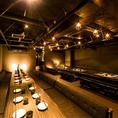 【扉付個室】50名様。御籠もり個室空間で名古屋のネオンをアテに銘酒の数々をお楽しみください。心ゆくまでお酒とお料理をお楽しみ頂けます。