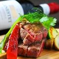 料理メニュー写真USプライムチャックの厚切りステーキ