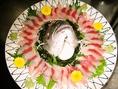 毎日仕入れる美味しい海鮮が楽しめます。その日のおすすめもお気軽にお尋ねください。