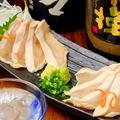 料理メニュー写真宮崎鶏 胸肉の刺身