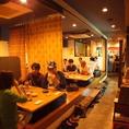 36名様までOKの掘りごたつ席を完備!みんなでワイワイ沖縄料理や岡山料理を楽しむなら畑人に集合!各種ご宴会のご予約お待ちしております!