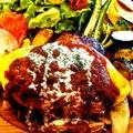 料理メニュー写真大人のオムレツハンバーグ(セット)