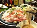 料理メニュー写真黒豚三枚肉と白菜の蒸し焼き 1人前[2人前から]