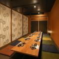 個室は2名様~最大80名様までご案内可能です♪掘りごたつ個室ですので、安心してお食事をお楽しみ頂けます。
