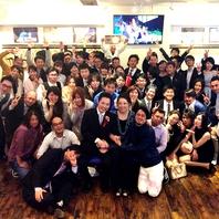 結婚式2次会、学生宴会など、最大120名様まで着席可能!