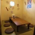 6名様向けのお座敷個室。少人数宴会などに最適です。