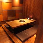 4名様用の個室のお席です。接待などの利用にお勧めです。