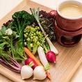 ミネラル豊富な鎌倉野菜。野菜本来の美味しさがわかる逸品です。