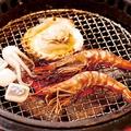 料理メニュー写真アオリイカ / 有頭海老(二尾) / 殻付き帆立(二枚)