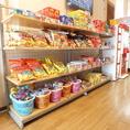 ☆スナック売り場☆お菓子なども販売しています。カラオケのお供にどうぞ♪