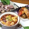 料理メニュー写真中華シェフオススメ三種盛り