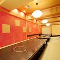 40名様収容可能!掘りごたつ個室は、凛とした大人の和空間となっておます。25名~40名様まで貸切可能です。広々としたお座敷空間は、飲み会や二次会、宴会など各種ご宴会にご利用いただけます。ご予約をおまちしております♪