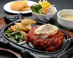 料理メニュー写真トマトハンバーグ