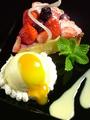 料理メニュー写真本日のタルトとバニラアイス
