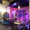 【アラブの宮殿】2~6名様用のテーブル席
