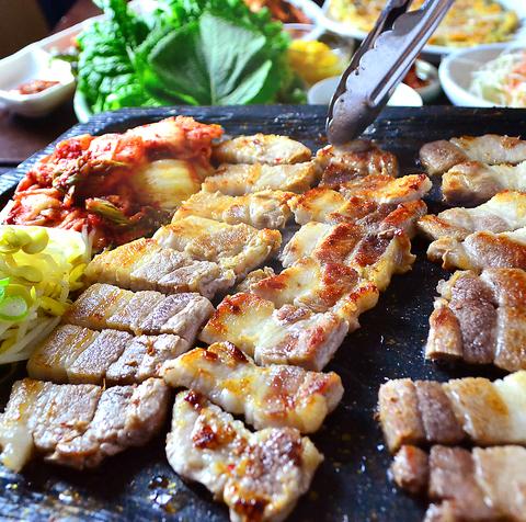 サムギョプサル 焼肉 韓国料理 食べ放題 李朝園 尼崎店
