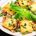 料理メニュー写真バジル豆腐