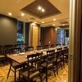 <3F 個室宴会フロア>イス席完全最大20名様個室※個室のご予約は11名様以上宴会コースのお客様優先にてご案内となります。お席のみのご予約の場合には2Fビヤホールテーブル席にてご用意させて頂きます。