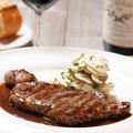 料理メニュー写真牛ロース肉のステーキ