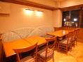 テーブル席はご家族、デート、宴会にも!