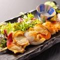 料理メニュー写真三陸産 旬の貝パレード一本焼き