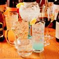 飲み放題コースはワインもカクテルも、種類豊富に取り揃えております!