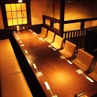 2階は人気のテーブル16名席と、掘り炬燵で30名様まで!