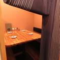 個室席は人気の為、予約必須!!最大6名までお座りできます。落ち着いた雰囲気で宴会や女子会などに◎