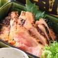 【岡山居酒屋×たつ屋】地鶏のしょうゆ漬け。しょう油につけて鶏の旨味をギュッと閉じ込めた一品!お酒が進むこと間違いなし。