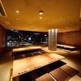 最大で36名様までの宴会が可能な夜景の望める個室のご用意ございます。神戸、三宮で完全個室で大人数での宴会なら是非燦神戸店まで!掘りごたつのお席ですので足を伸ばしてゆったりと宴会をお楽しみ頂けます。同窓会や各種ご宴会のご予約も承っておりますのでお気軽にお問い合わせください。